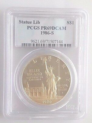 1986 S Statue of Liberty COMMEMORATIVE SILVER DOLLAR PCGS PR69 DCAM