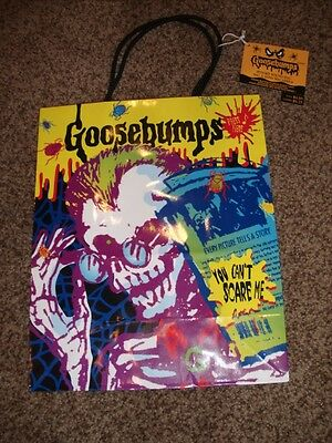 Vintage Hallmark Goosebumps RL Stein Gift Bag Sack Spooky Sound Birthday Mint