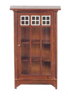 Dollhouse Miniature - Mission Style Bookcase circa 1907- 1:12th scale - Walnut