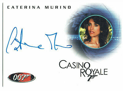 The Complete James Bond Autograph Card A78 Caterina Murino as Solange