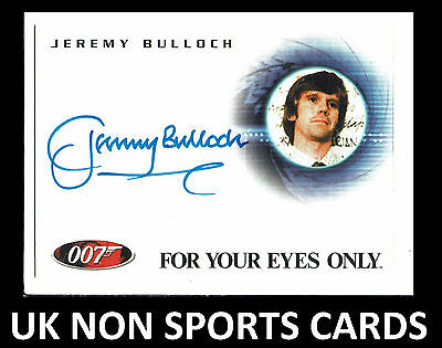 The Complete James Bond 40th Autograph Card A90 Jeremy Bulloch as Smithers