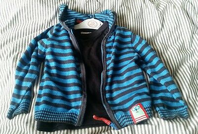baby boys t shirt and hooded cardigan 12-18 months