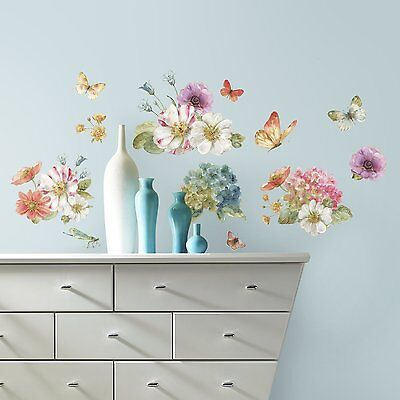 RoomMates RMK3262SCS Lisa Audit Garden Bouquet Peel and Stick Wall Decals