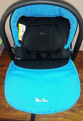 Silver Cross Simplicity Car Seat In Sky Blue And Black