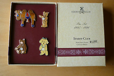Steiff Club Pin 4 Pins - Set 1995 - 1996