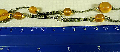 Old vintage retro antique natural Baltic Amber necklace authentic jewelry 1322