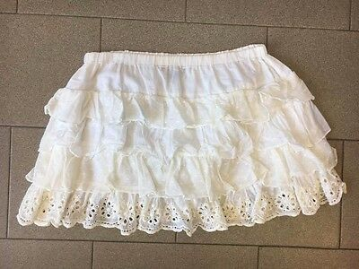 Denny Rose Gonna Skirt Bianco Mingonna Mini Balze White Donna M 42 44 Usato