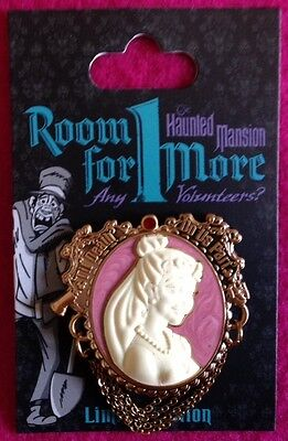 Disney Haunted Mansion Room For 1 More cameo pin Features Constance the Bride