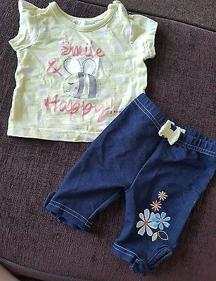 baby girl summer outfit M&Co 0-3 months