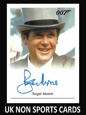 James Bond Autographs & Relics Full Bleed Autograph Card Roger Moore as Bond 007