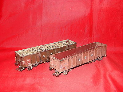2 Wagons Longs Tombereau Jouef Ho Train Electrique