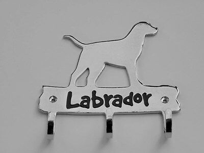 Labrador  Dog Lover Leash Key Hook Holder by Top Paw Chrome Finish 3 Hooks NIP