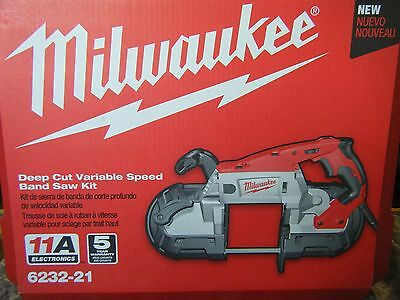 NEW Milwaukee 6232-21 Deep Cut Variable Speed Portable Band Saw with Case