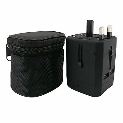 International Travel Adapter - Worldwide Use Charging Adapter with Dual USB Port
