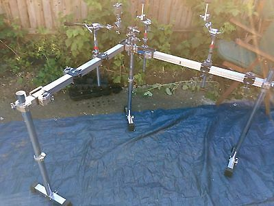 Pearl Iron Drum Rack w/Extra Cymbal Boom Arms Tom Mount