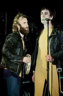 """12""""*8"""" concert photo of Peter Gabriel & Phil Collins playing at Reading in 1979"""