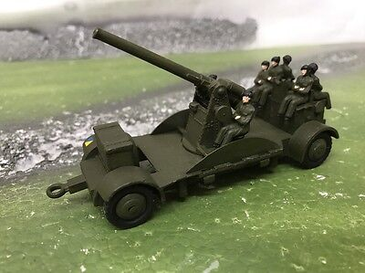 Vintage Dinky Anti-Aircraft Gun on Trailer No.161b - 1/43 - Code 3