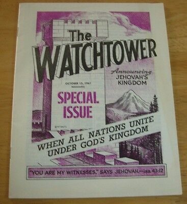 Jehovah's Witness The Watchtower Book/Pamphlet, October 15th 1961