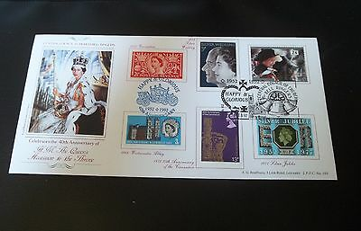 1992 Happy & Glorious Bradbury First Day Cover - 40Th Anniversary