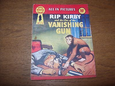 Vintage SUPER DETECTIVE LIBRARY #134 (1958 10d) RIP KIRBY and the VANISHING GUN