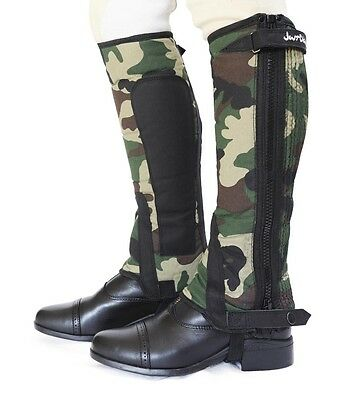 Childs Medium riding chaps - Just Chaps - Green 'Combat' Camouflage