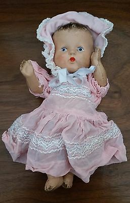 VINTAGE ANTIQUE BABY DOLL Composition Body Arms & Legs move