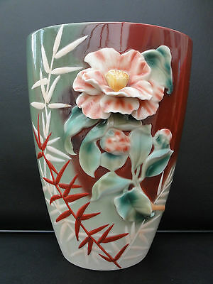 Franz Porcelain. Far East Beauty Vase. BNIB