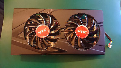 VTX R9 270X Stock GPU Graphics Card Cooler (Cooler Only) *WORKING*
