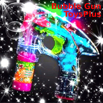 Bubble Gun Special Edition LED lights with 3soap containers+batteries-אקדח בועות