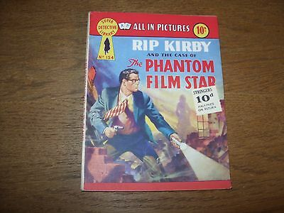Vintage SUPER DETECTIVE LIBRARY #154 (1959) RIP KIRBY & THE PHANTOM FILM STAR