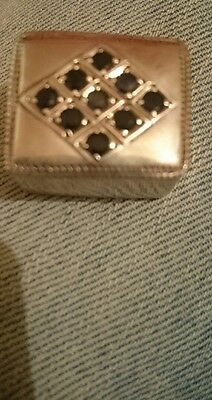hallmarked silver trinket pill box