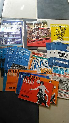Football programme collection 1970's