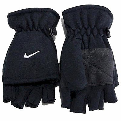 NEW Nike Youth Boy's Convertible Gloves Black Winter Hands Snow Gloves