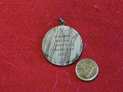Original Canadian - 1955 Canadian Arsenals - Fist Aid Competition Medal