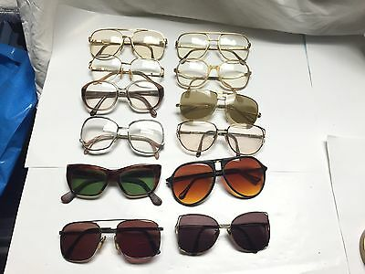 Lot of 12 Vintage Modern Eyeglasses Sunglasses Frames Terri Brogan + more