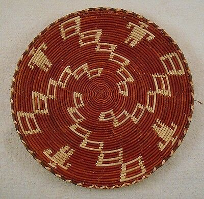GREAT ANTIQUE NATIVE AMERICAN INDIAN BASKET BOWL ( Nice Color and Pattern )