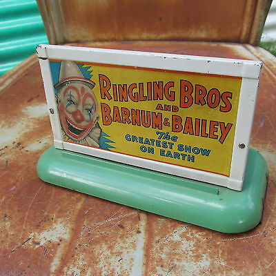 vintage American Flyer Train Railroad CIRCUS SIGN - THE GREATEST SHOW ON EARTH !