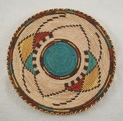 GREAT ANTIQUE NATIVE AMERICAN INDIAN BASKET BOWL ( Very Nice Pattern )