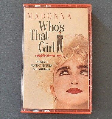 Madonna : Who's That Girl - Original Motion Picture SoundTrack- Cassette Tape