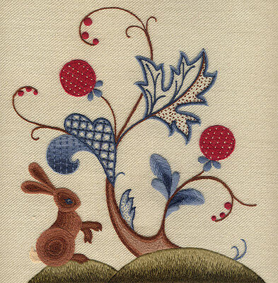 """Crewel Work Embroidery Kit """"A Rabbit Summer"""" By Melbury Hill"""