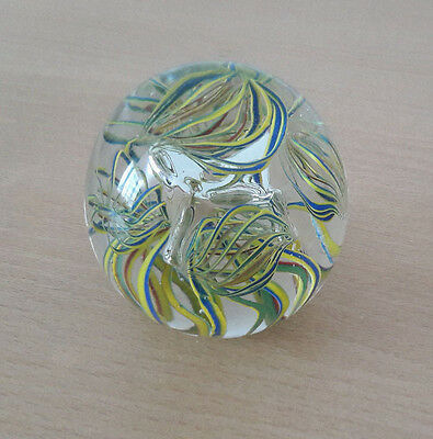 Glass Paperweight with Stunning abstract filigree design