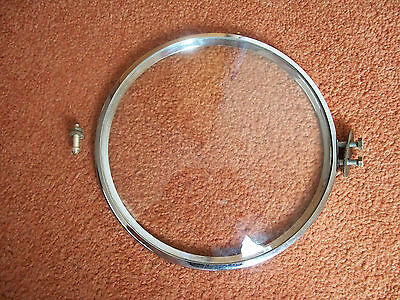 Mantle clock bezel with glass spares