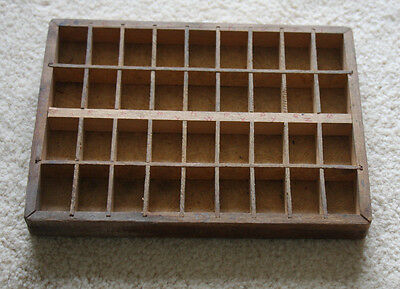 Antique wooden typeset tray