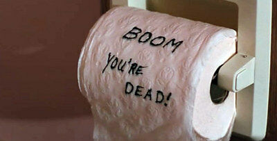novelty lethal weapon type toilet roll