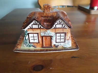 Vintage keele st.Pottery cottage ware butter dish/cheese