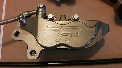 Racing Front Left Caliper 40mm Mount PT Supermoto - CNC Billet - (no Brembo P4)