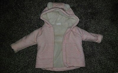 baby girl pink jacket size 3-6 months