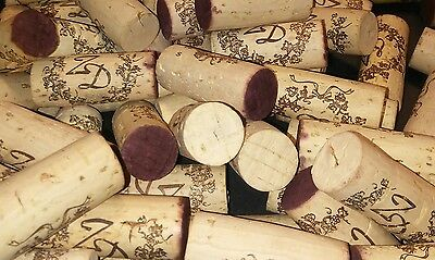 300 wine corks- 1 winery - red and white stained **nice**