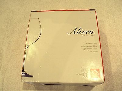 Aliseo Da Vinci collection pair of red wine tasting glasses - new and boxed