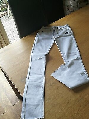 new look white skinny jeans bnwt age 12
